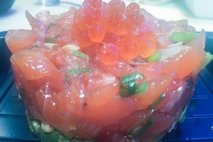 Tartar de salmón